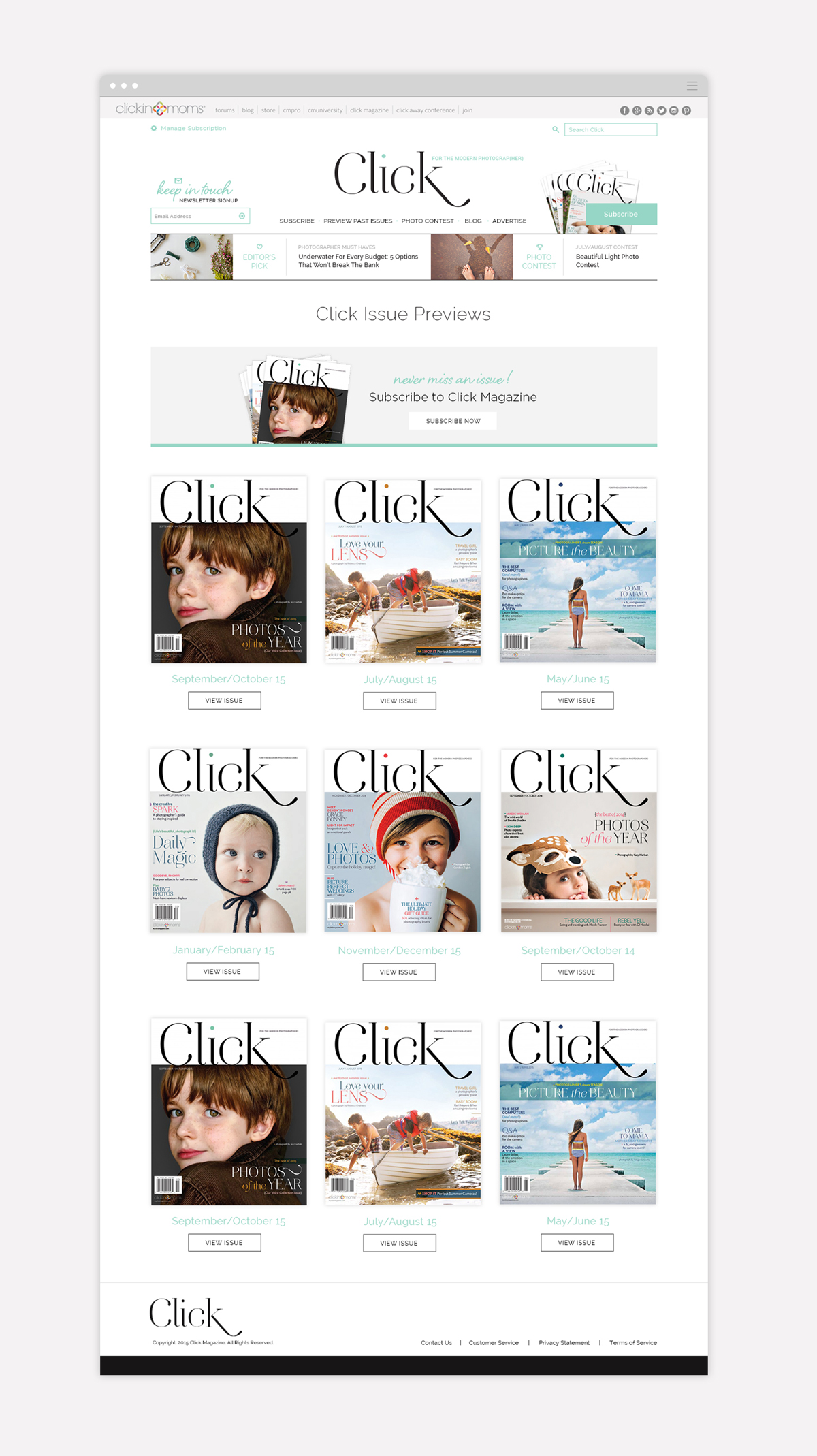 Click Magazine Issues Page