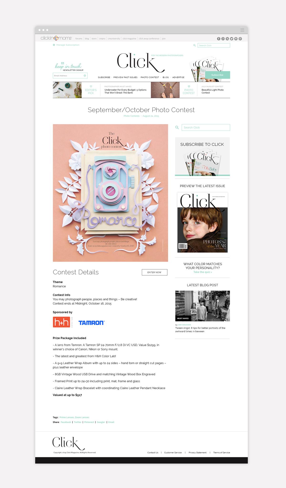 Click Magazine Contest Page