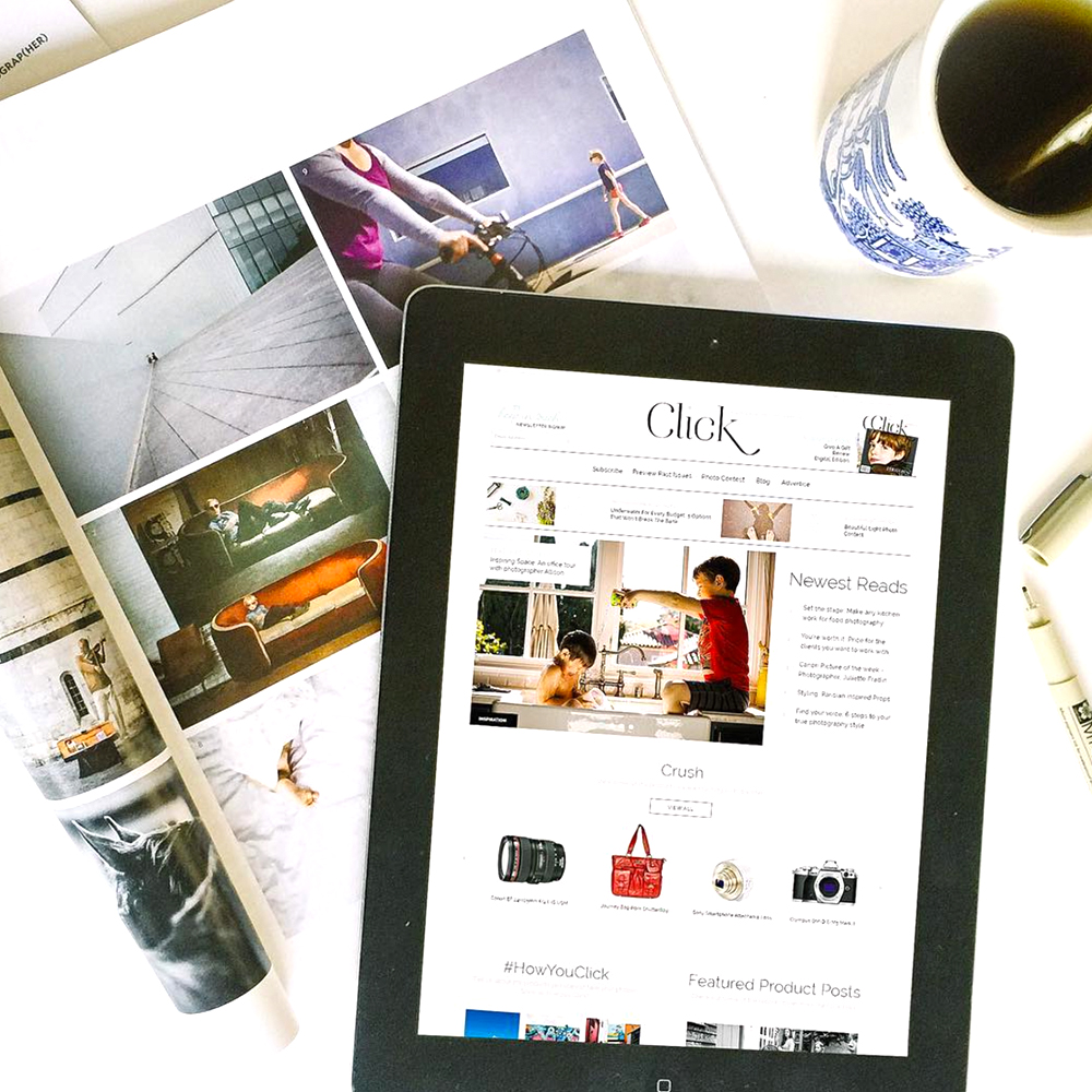 Click Magazine Site Design