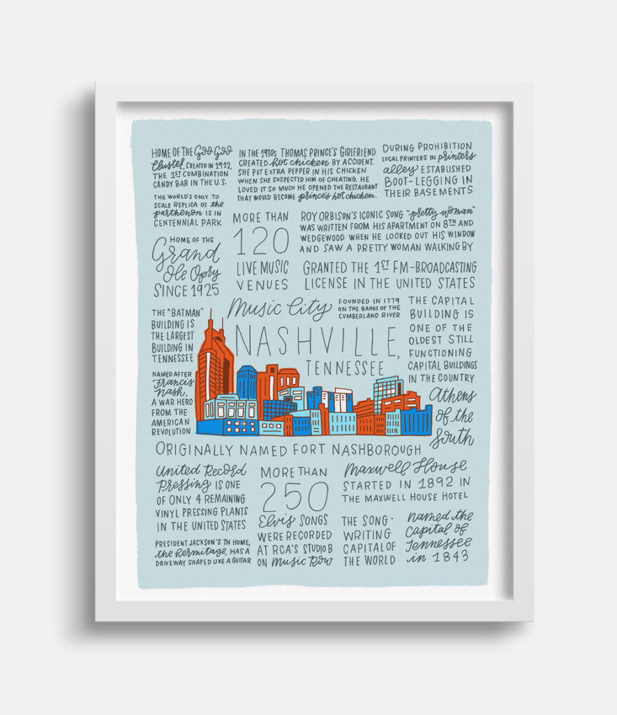 History of Nashville Art Print