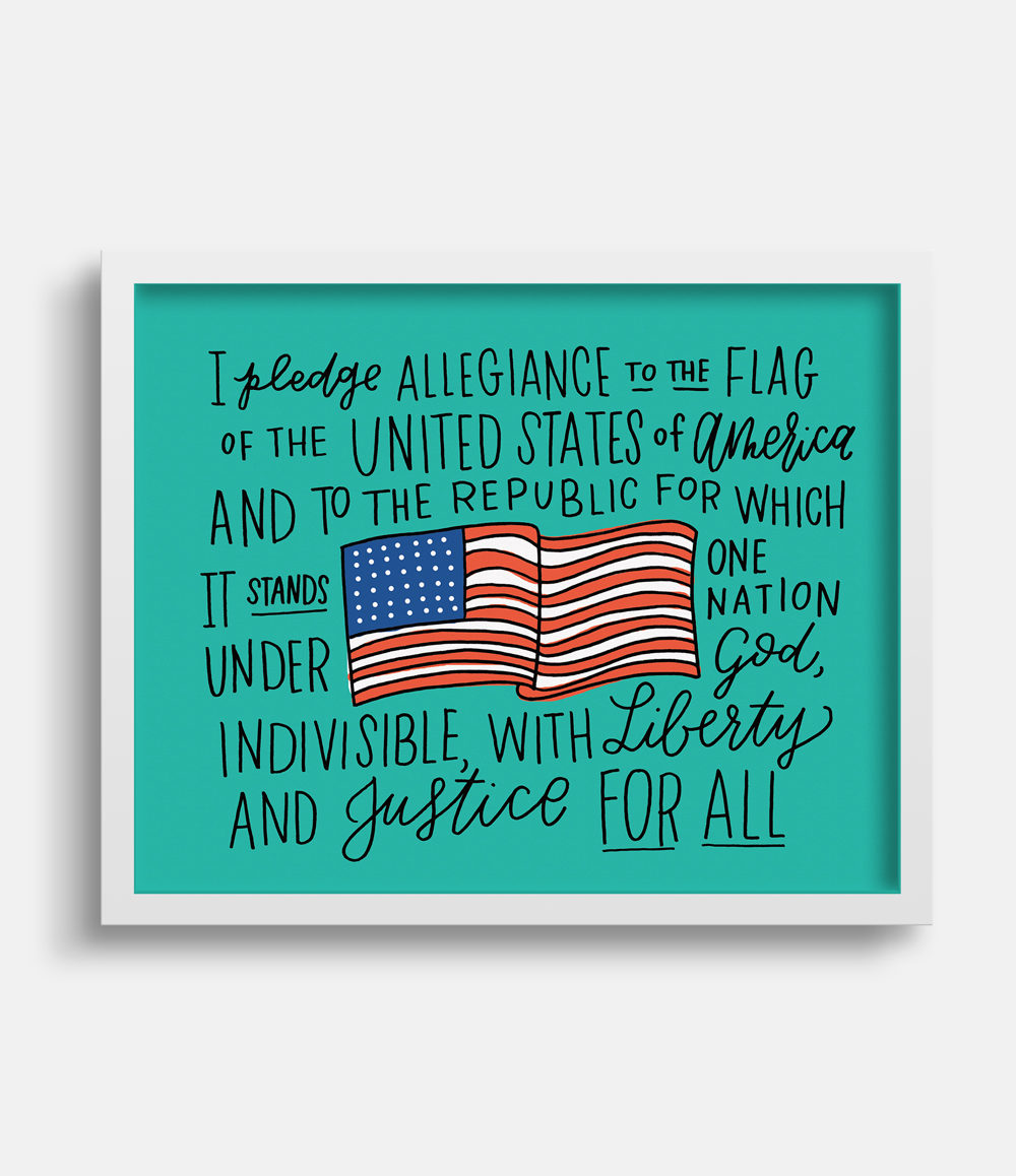 Pledge of Allegiance Art Print