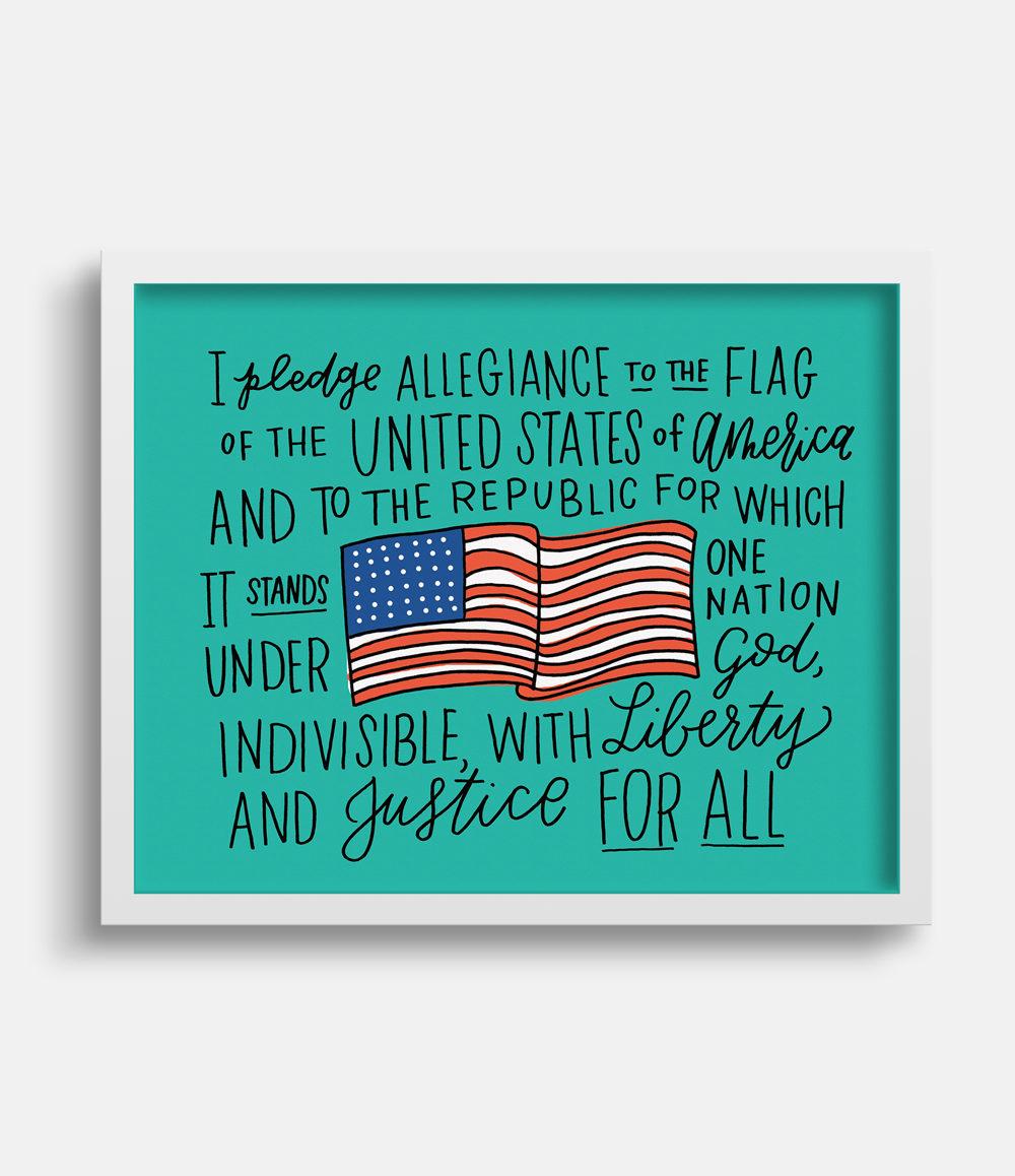 Pledge of Allegiance Art Print