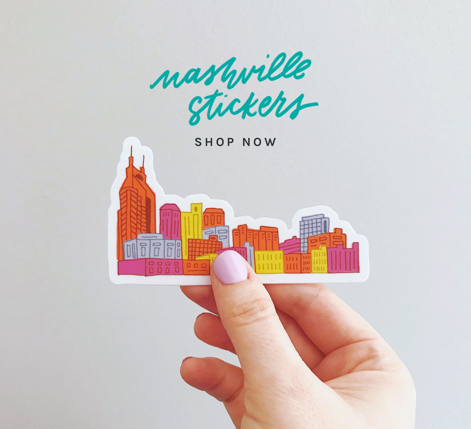 Nashville Skyline Stickers by Joanna Dee