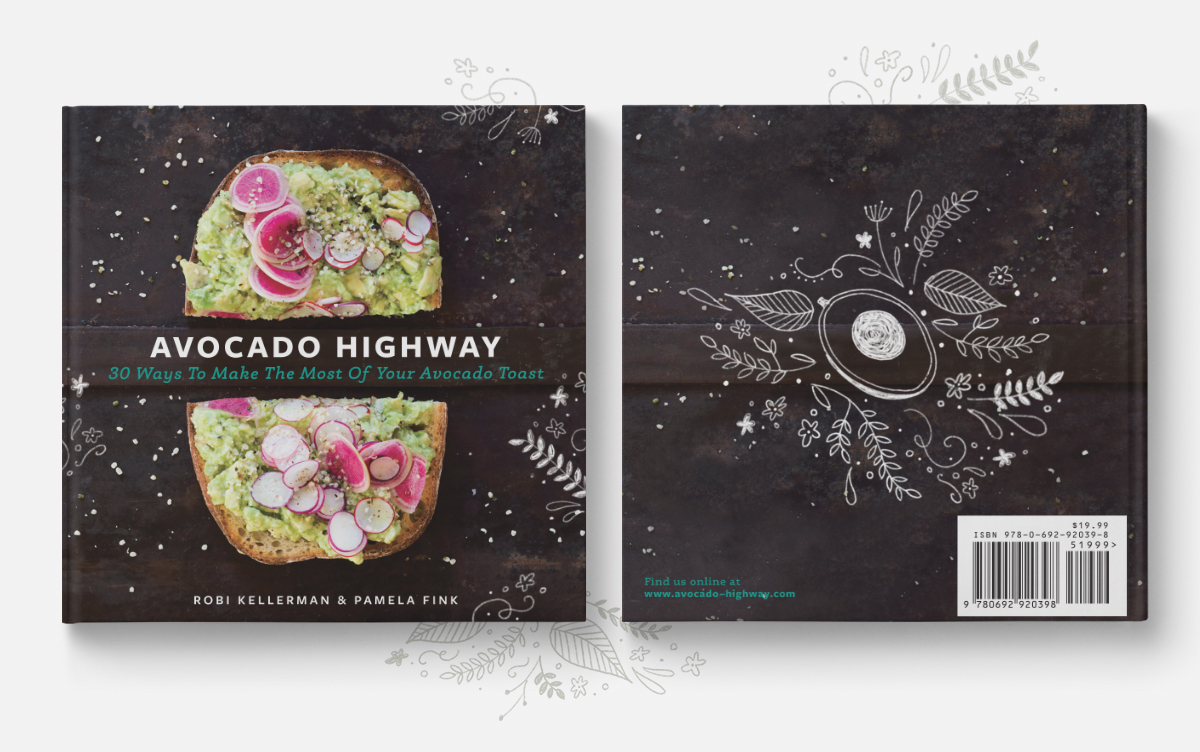 Avocado Highway Cookbook Cover Front & Back