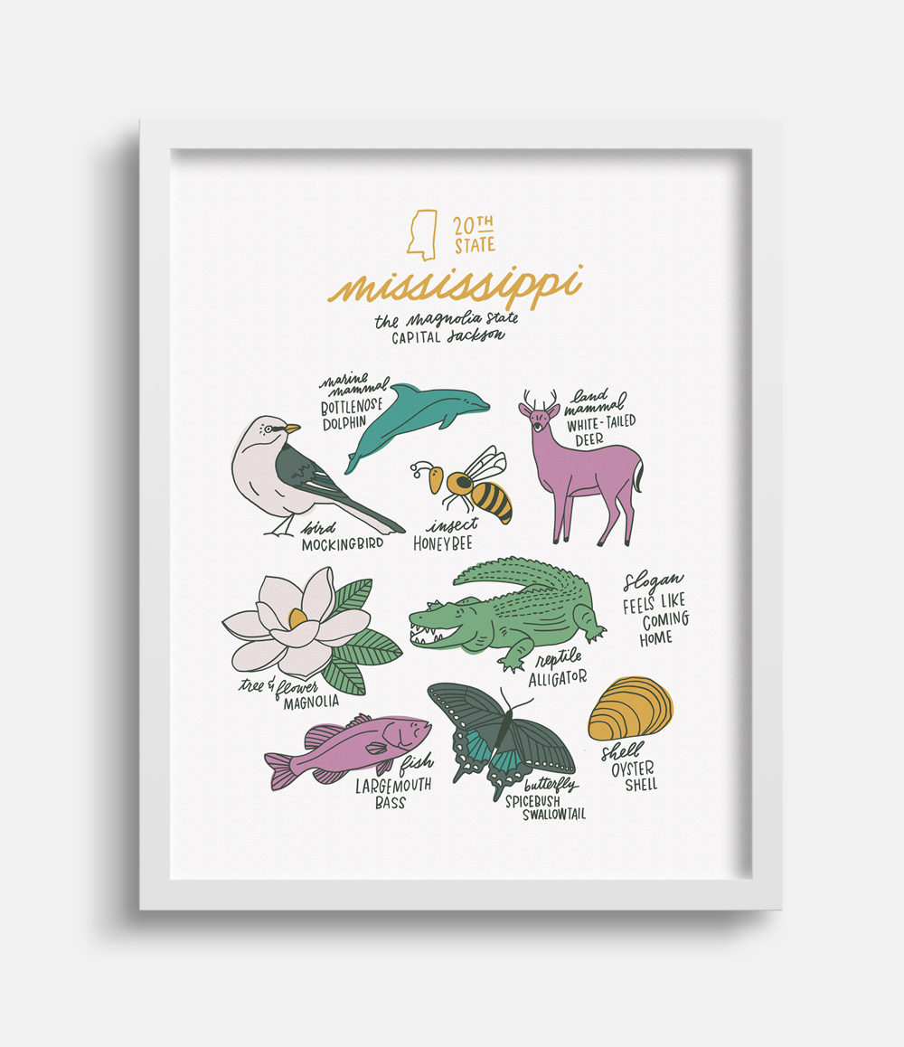 Mississippi State Symbols by Joanna Dee