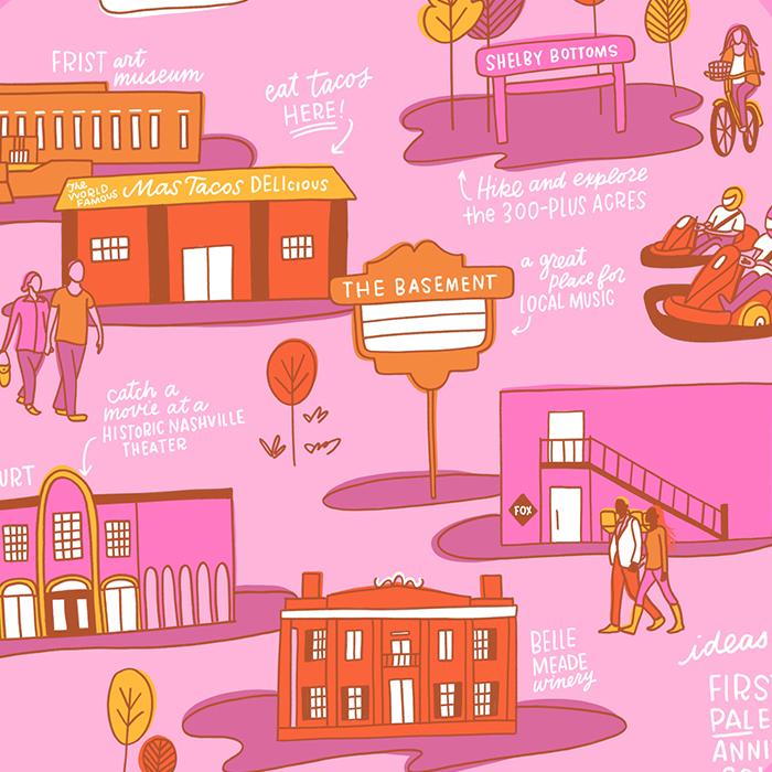 Nashville Scene Cover Illustration